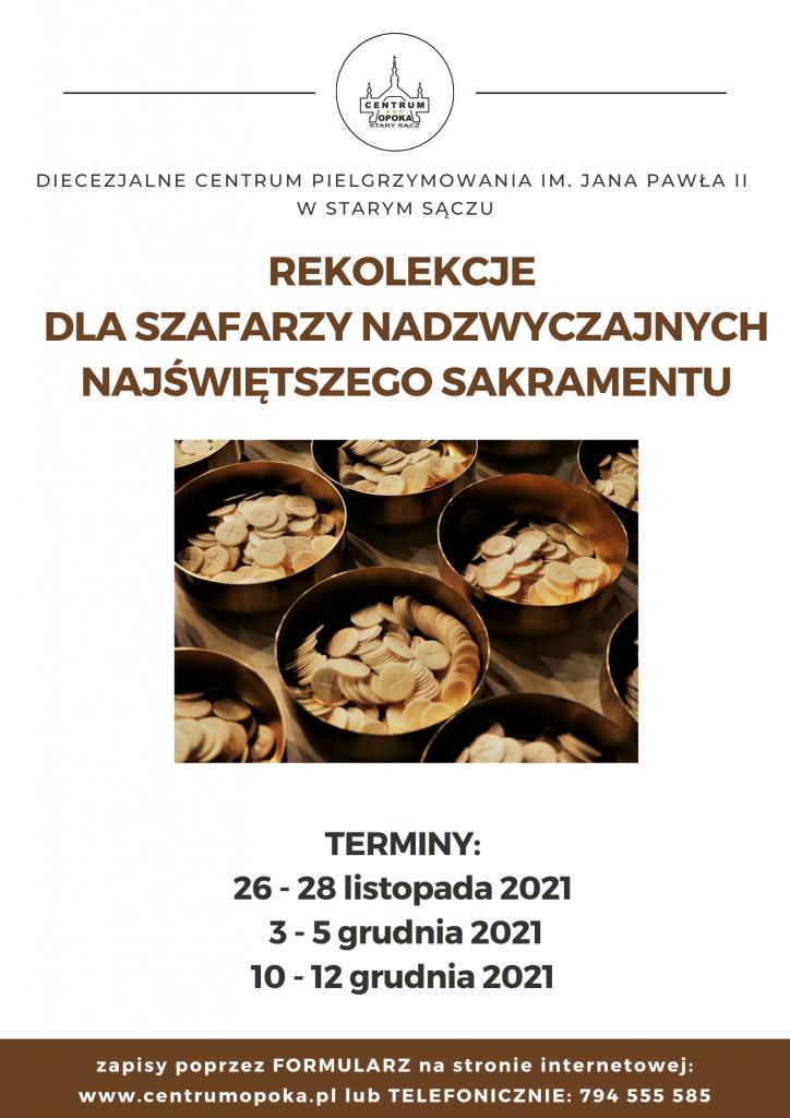 plakat Rekolekcje dla szafarzy